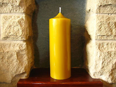 Handmade Pure Natural Beeswax Church Candle 18.5cm x 7cm (88 hours burn time) with Free Shipping UK